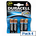 Duracell Ultra M3 AA 1.5V Batteries High Tech Application 7035058 Pack 4