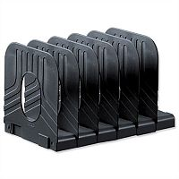 Avery Book Rack Extendable 6 Sections Black