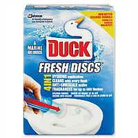 Toilet Duck Gel Discs Marine Fragrance Pack 6