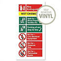 Stewart Superior Wet Chemical Fire Extinguisher Self Adhesive Vinyl Safety Sign