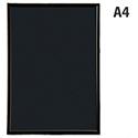 Fast Frame A4 Back-loading Non-glass Front Black Photo Album Company