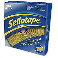 Sellotape Sticky Hook 25mm x 12m Strip Yellow Ref 1445179