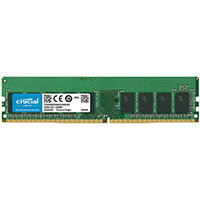 Crucial - DDR4 - 16 GB - DIMM 288-pin - 2666 MHz / PC4-21300 - CL19 - 1.2 V - unbuffered - ECC