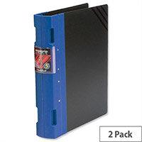 Guildhall GLX Ergogrip A4 Blue 2 Ring Binder 55mm Pack 2