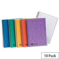 Europa A4 Notemaker Sidebound Book Ruled 120 Pages Assorted A Pack 10