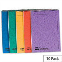 Europa A4 Notemaker Pad Headbound Ruled 120 Pages Assorted A Pack 10