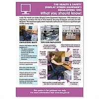 Computer Monitor Health & Safety Poster W420xH595mm