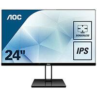 """AOC 24V2Q - LED Computer Monitor - 23.8"""" - 1920 x 1080 Full HD (1080p) - IPS - 250 cd/m"""