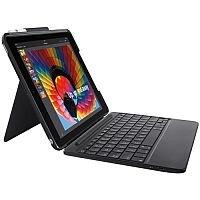Logitech Slim Combo Keyboard and Folio Case for Apple iPad 9.7inch (5th generation, 6th generation) ; Bluetooth ; UK Keyboard Layout ; Black