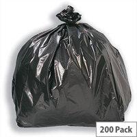 5 Star Bin Bags Economy 72 Gauge 95 Litre Capacity Black Pack 200