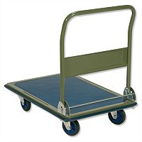RelX Platform Truck Heavy-duty Capacity 300kg Baseboard Blue and Grey Ref PH300 324580 484619