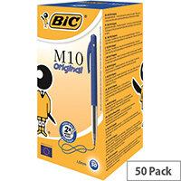 Bic M10 Retractable Ballpoint Pen Blue Pack 50