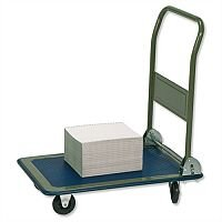 RelX Platform Truck Medium-duty Capacity 150kg Baseboard W475xL735mm Blue and Grey Ref PH150