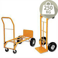 Heavy Duty 2 in 1 Hand Trolley and Platform Truck Capacity 250kg RelX