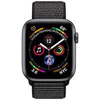 Apple Watch Series 4 (GPS + Cellular) - space grey aluminium - smart watch with sport loop - black - 16 GB