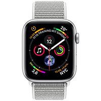 Apple Watch Series 4 (GPS + Cellular) - silver aluminium - smart watch with sport loop - seashell - 16 GB