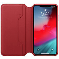 Apple Folio RED - Leather flip cover for mobile phone iPhone XS Max