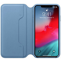 Apple Folio - Leather flip cover for mobile phone iPhone XS Max Cape Cod Blue