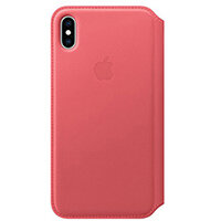 Apple Folio - Leather flip cover for mobile phone Apple iPhone XS Max in Peony Pink