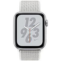 Apple Watch Nike+ Series 4 (GPS + Cellular) - silver aluminium - smart watch with Nike sport loop - summit white - 16 GB