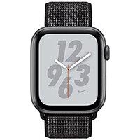 Apple Watch Nike+ Series 4 (GPS + Cellular) - space grey aluminium - smart watch with Nike sport loop - black - 16 GB
