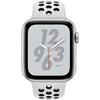 Apple Watch Nike+ Series 4 (GPS) - silver aluminium - smart watch with Nike sport band - pure platinum/black - 16 GB