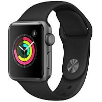 Apple Watch Series 3 (GPS) - Space Grey Aluminium - Smart Watch With Sport Band - Black - 8GB
