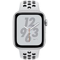 Apple Watch Nike+ Series 4 (GPS + Cellular) - silver aluminium - smart watch with Nike sport band - pure platinum/black - 16 GB