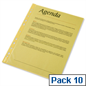 Esselte A4 Yellow Punched Pockets Pack 10