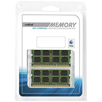 Crucial - DDR3 - 16 GB:2 x 8 GB RAM Memory - SO-DIMM 204-pin - unbuffered for Apple iMac (Late 2011); Mac mini (Mid 2011); MacBook Pro (Early 2011, Late 2011)