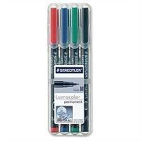 Staedtler Assorted 317 Lumocolor Pen Permanent 0.8mm 317WP4 Wallet 4