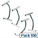 Treasury Tags Metal End Green 25mm Pack 100 5 Star