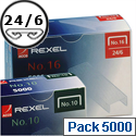 Rexel 16 Staples 6mm Pack 5000