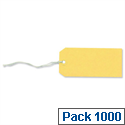 Strung Tags Canary Yellow Pack 1000 Merit