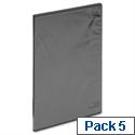 DVD Case for 1 Disk Black Pack 5