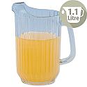 Clear Plastic Jug 1.1 Litre Dishwasher Safe