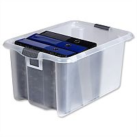 Strata Storemaster Large Archive Box Plastic 51 Litre Clear
