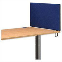 Trexus 800 Desktop Screen with Easy-fit Clamps W800xH450mm Royal