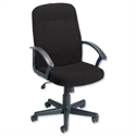 Managers Office Chair With Arms Charcoal High Back Trexus