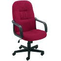 Jemini High Back Managers Chair Royal Claret
