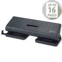 Rapesco 75P 4 Hole Punch 16 Sheets Black
