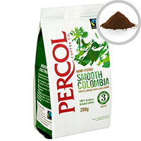 Percol Fairtrade Colombia Ground Coffee Medium Roasted 200g Ref A07931