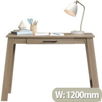 Trestle Home Office Desk Summer Oak Finish