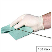 Keepsafe Disposable Powder Free Latex Gloves Medium Box 100 Ref GL8882