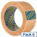 Sellotape Clear Vinyl Case Sealing Packing Tape 50mm x 66m (6 Pack)