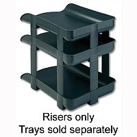 Rexel Agenda2 Charcoal Stackable Risers Pack 5 2101019