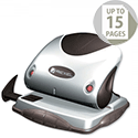 Rexel P215 2 Hole Punch Silver and Black with Nameplate 15 Sheet Capacity