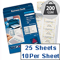 Avery C32011-25 Business Cards 10 per Sheet  250 Cards