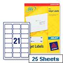 Avery White Quickdry Inkjet 21 Per Sheet (Pack of 525)