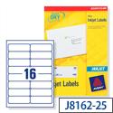 Avery White Quickdry Inkjet 16 Per Sheet (Pack of 400)